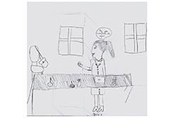 Desenho de Ariana com 9 anos
