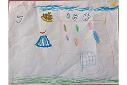 Desenho de Dinis com 6 Anos