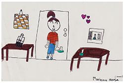Desenho de Mariana com 10 anos