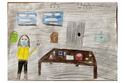Desenho de Matilde com 8 anos